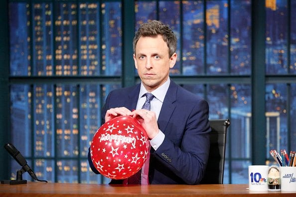 trump seth myers late night