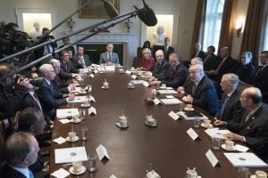 trump's first cabinet meeting