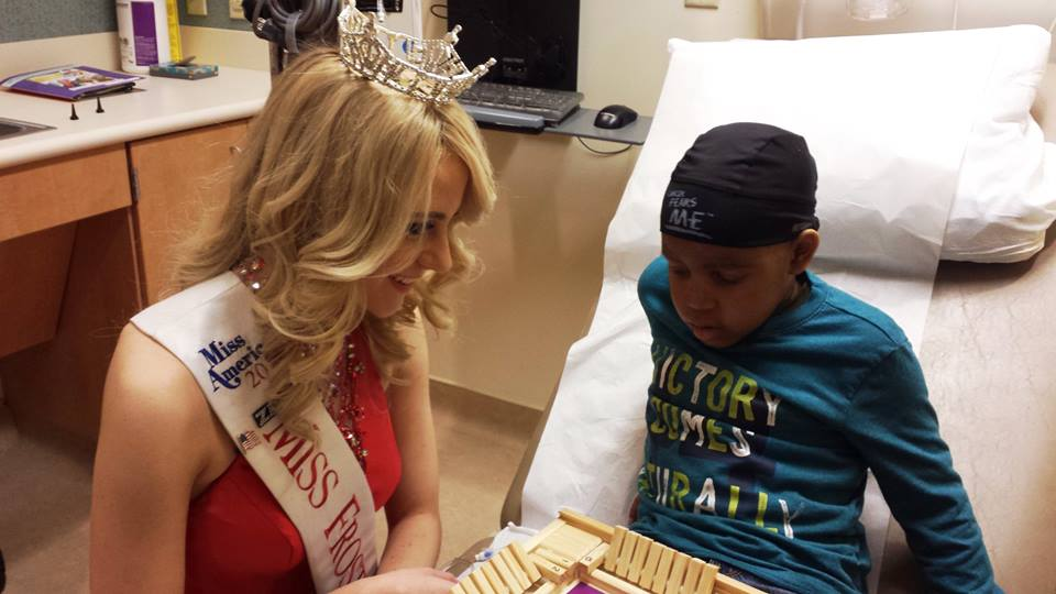 Victoria Graham Visits Children