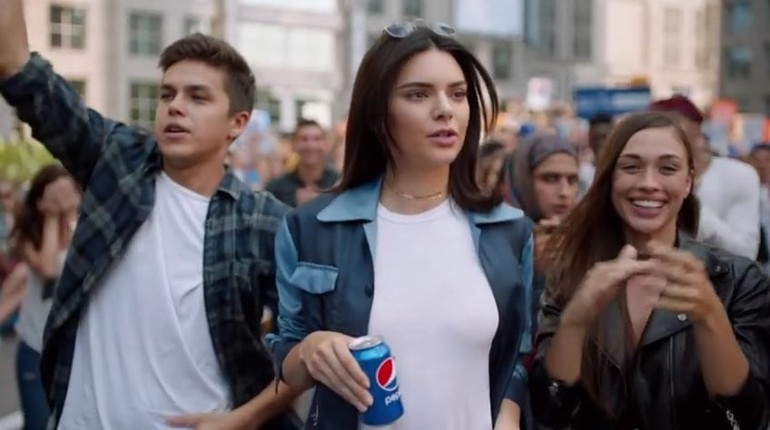 ad of Kendall Jenner faces backlash