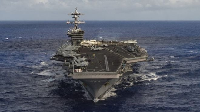 The USS Carl Vinson Aircraft Carrier