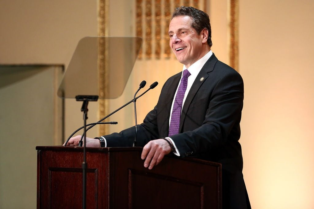 Andrew Cuomo speaks about New York offering free college tuition