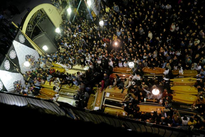 coptic churches in Egypt attacked, killing 44 people
