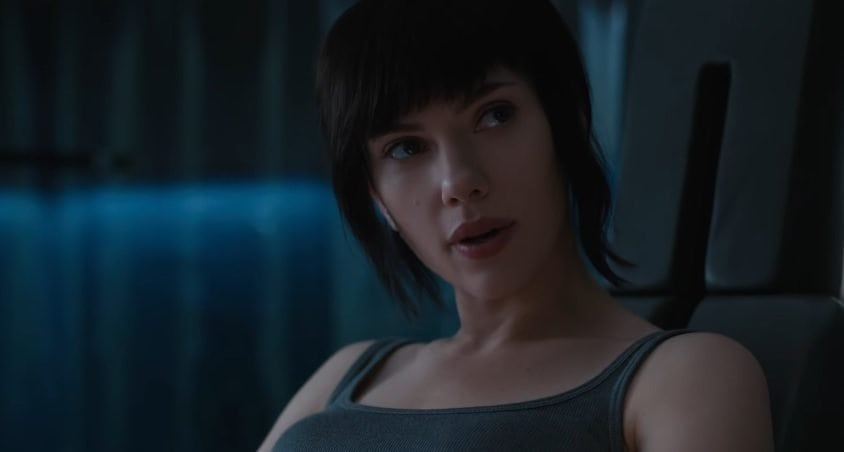 Scarlett Johanson in Ghost in the Shell
