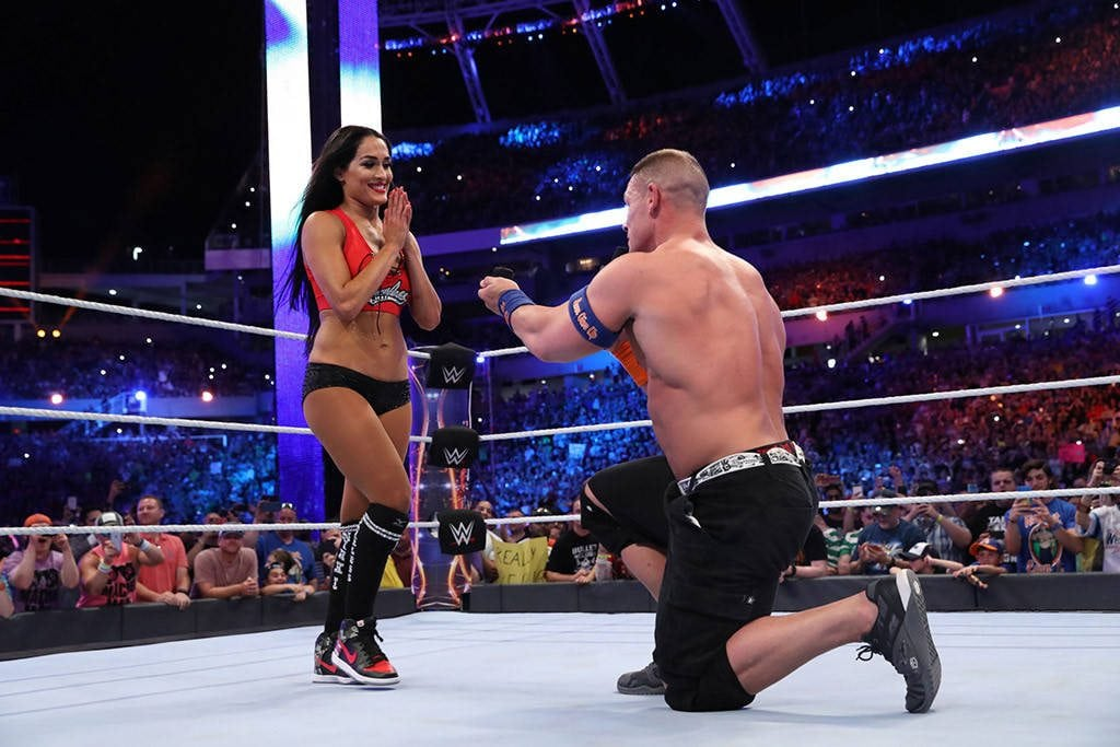 John Cena finally popped the question