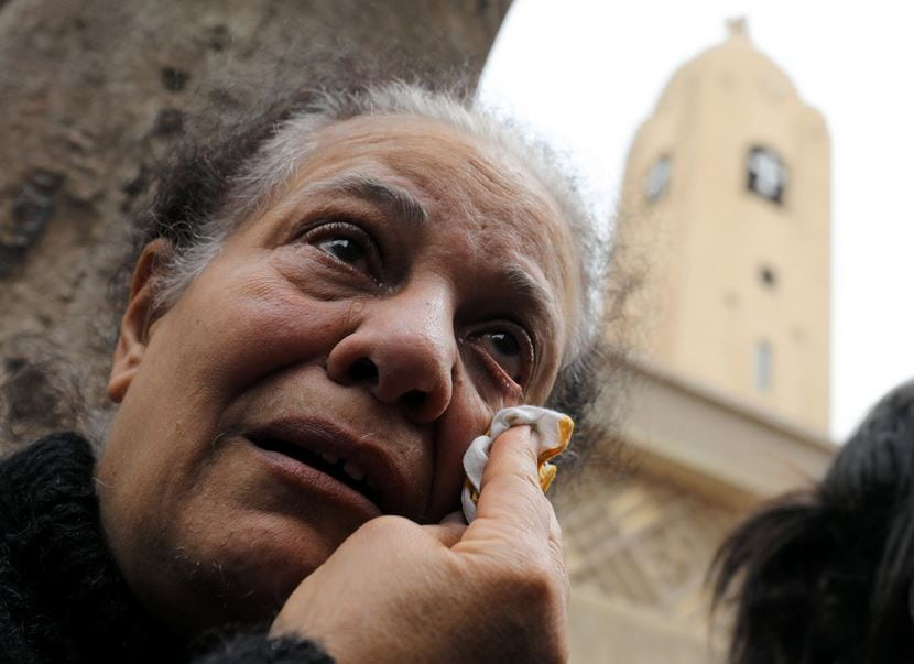 people schocked over the bombings in Egypt
