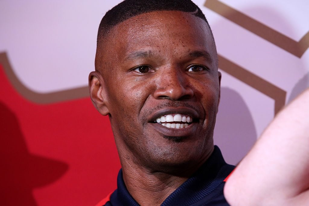 Jamie Foxx and Katie Holmes foxx and fallon