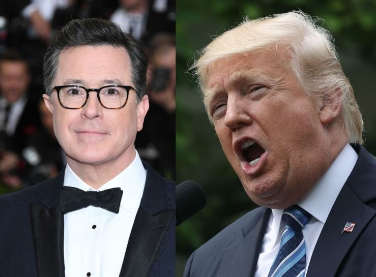 Stephen colbert vs trump