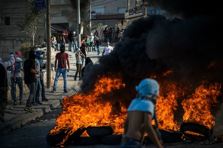 Palestinians Riot with Police