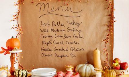 friendsgiving menu sign
