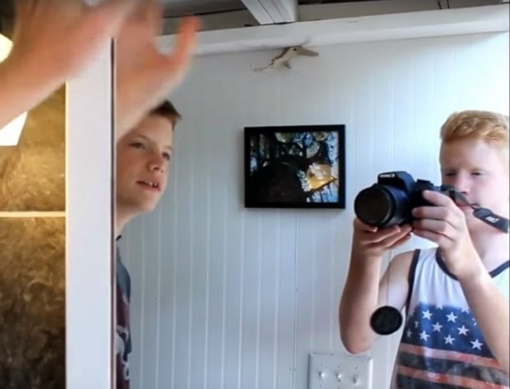 13 Year Old Luke Thill Built His Own Tiny House And Only