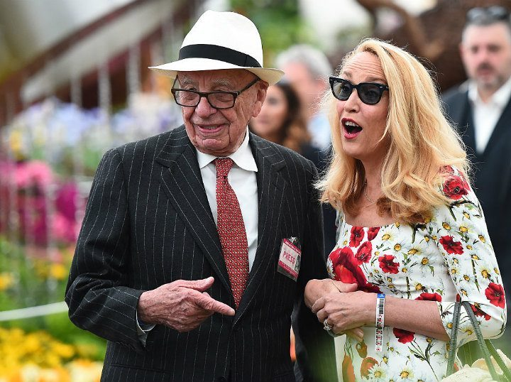 Jerry Hall Rupert Murdoch trophy wives billionaire wives club
