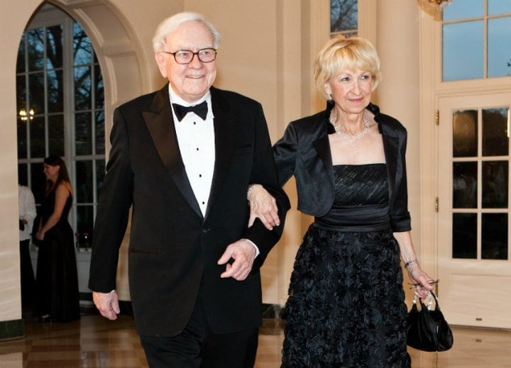 warren buffett astrid trophy wife billionaire