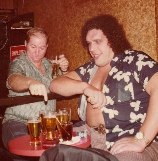 andre the giant drinking beers andre roussimoff alcohol drunk buzzed intoxicated wasted