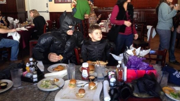 lunch burger bar san francisco union square batkid miles scott batman