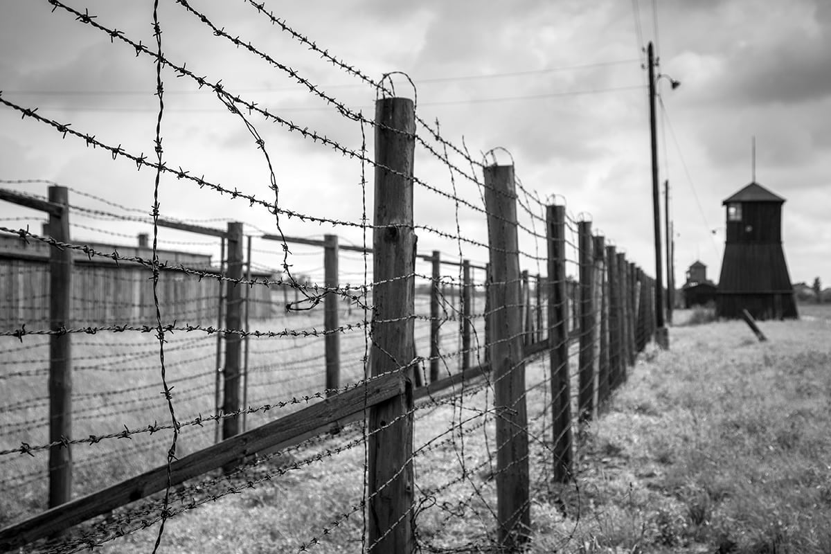barbed wire concentration camp holocaust