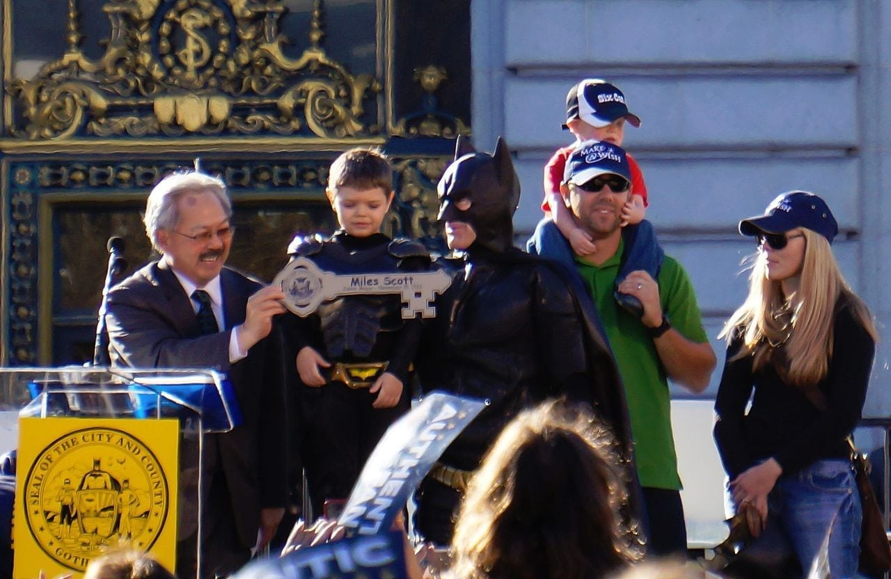 batkid batman ed lee mayor san francisco batkid batman keys city miles scott
