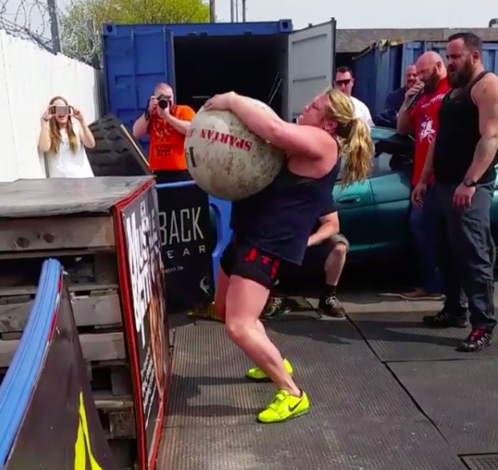 donna moore lifting stone lift heavy strong woman