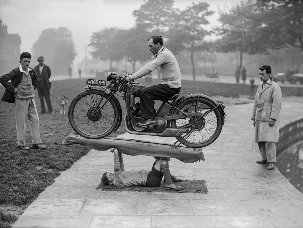 boy samson lifting motorcycle lifts coventry england